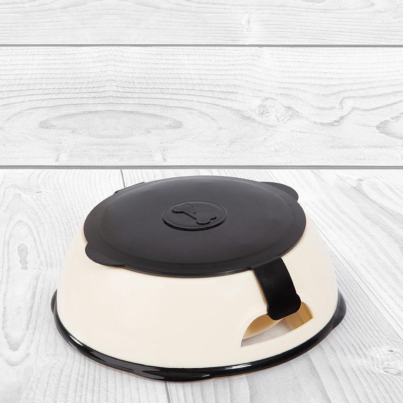 Edupet dog bowl with lid transport